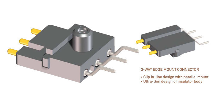 3-WAY EDGE MOUNT CONNECTOR