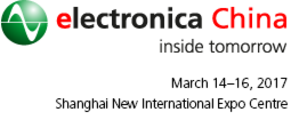 Visit us at Electronica Shanghai, March 14-16, 2017