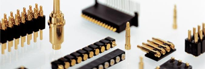 spring-loaded connectors PAD connectors